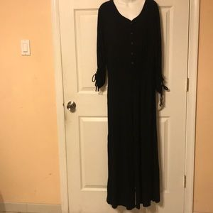 Lingerie jumpsuit size M black long sleeve